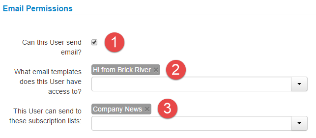 Email Permissions - Brick River