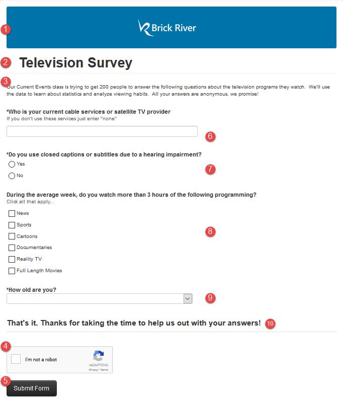 Registration Form Examples Brick River